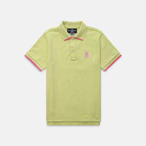 Psycho Bunny MS - Casual Tops - Polos Boys Sandford Polo w Contrasting Details Light Green - Gotstyle The Menswear Store