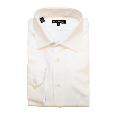 Gotstyle - Gotstyle Collar Shirts Gotstyle Basic Dress Shirt with Oxford Weave