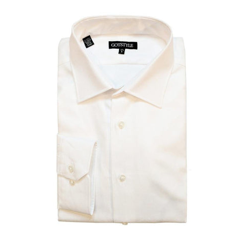 Gotstyle Basic Dress Shirt with Oxford Weave - Gotstyle The Menswear Store