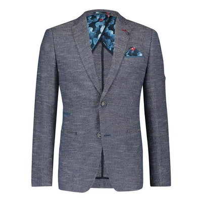 A Fish Named Fred Blazers Cotton / Linen Besom Pocket Slub Blazer - Gotstyle The Menswear Store