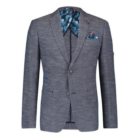 A Fish Named Fred MS - Blazers Cotton / Linen Besom Pocket Slub Blazer - Gotstyle The Menswear Store