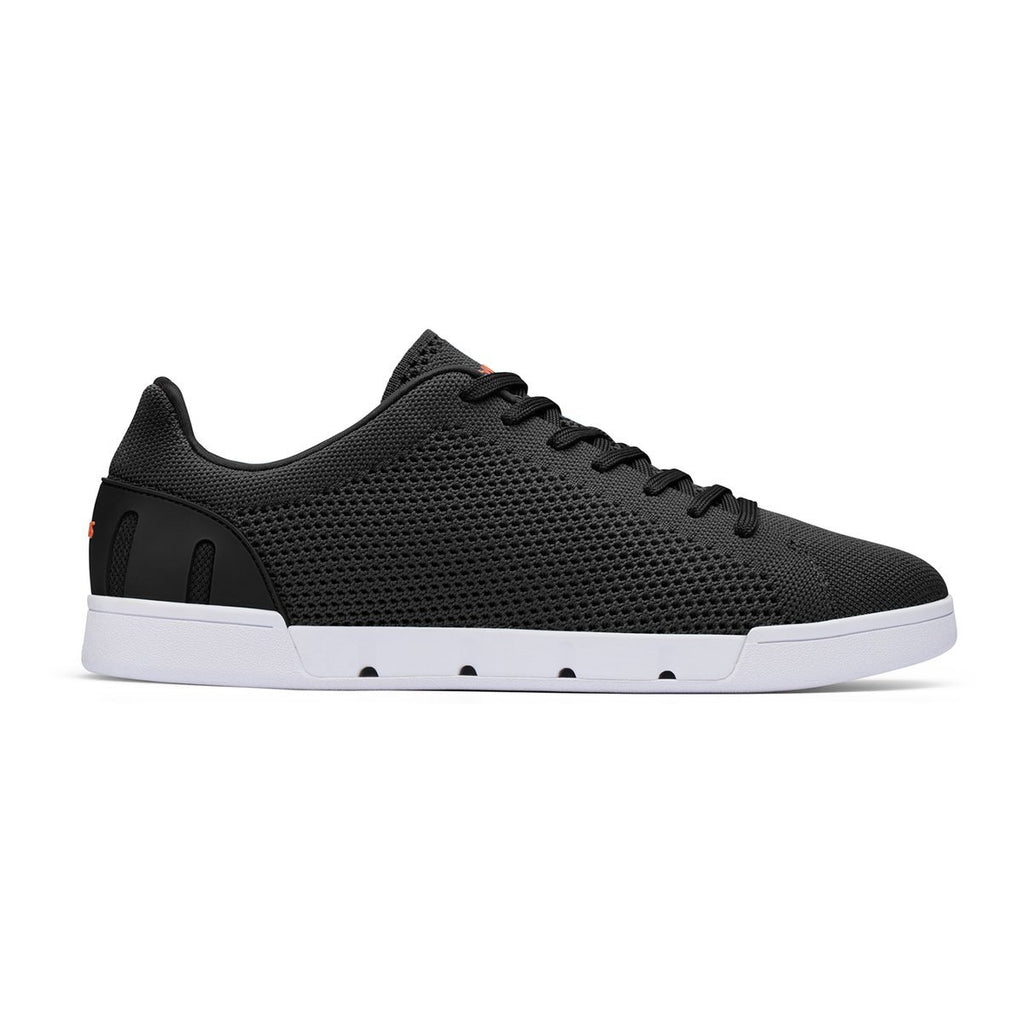 Swims MF - Casual Shoes Breeze Tennis Knit Sneaker Black/White - Gotstyle The Menswear Store