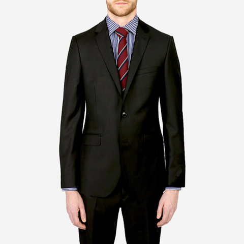 Black Ronaldo/Roma Wool Suit - Gotstyle The Menswear Store