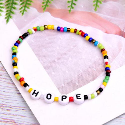 Gotstyle - Gotstyle Jewellery Beaded Letters Charm Bracelet - Hope