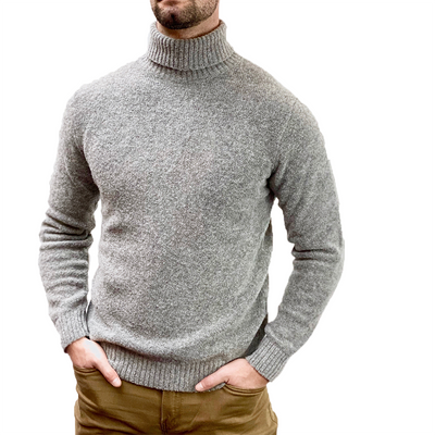 Gotstyle - Circolo 1901 Sweaters Brushed Boucle Wool Blend Turtleneck