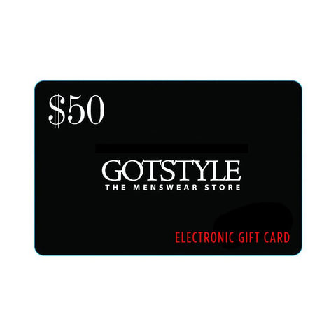 Giftcard Gift Card Online Gift Card - Gotstyle The Menswear Store