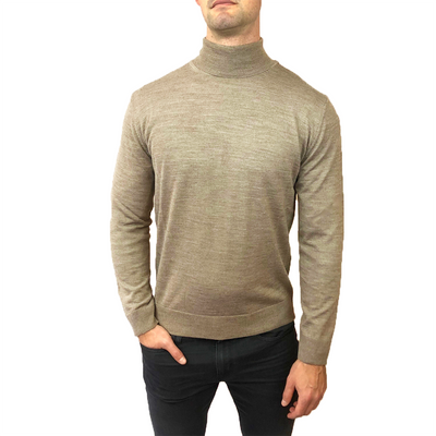 Horst Sweaters Italian Merino Wool Blend Turtleneck - Camel - Gotstyle The Menswear Store