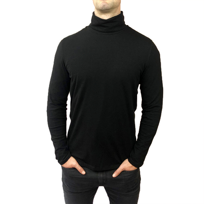 Gotstyle - Benson Sweaters Solid Jersey Turtleneck - Black