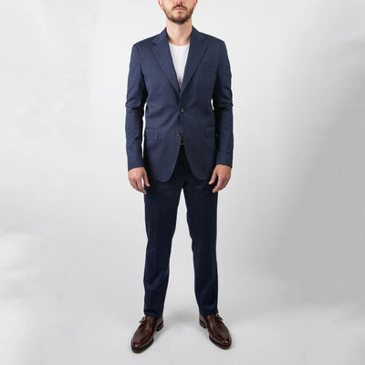 Gotstyle - 0909 Suits Herringbone Stretch Wool Suit