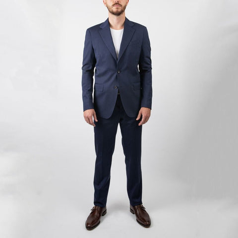 0909 MT - Suits Herringbone Stretch Wool Suit - Gotstyle The Menswear Store