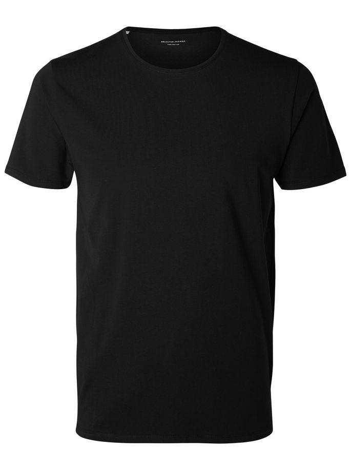 Pima Cotton Crew Neck T-Shirt Black - Gotstyle The Menswear Store