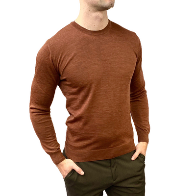 Gotstyle - Sand Copenhagen Sweaters Merino Wool Crew Neck Sweater - Brown