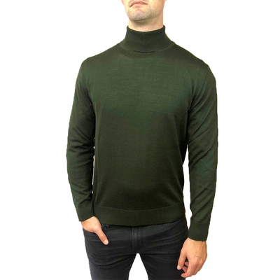 Horst Sweaters Italian Merino Wool Blend Turtleneck - Dark Green - Gotstyle The Menswear Store