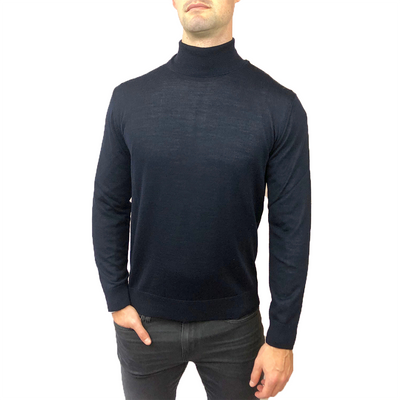 Horst Sweaters Italian Merino Wool Blend Turtleneck - Navy - Gotstyle The Menswear Store