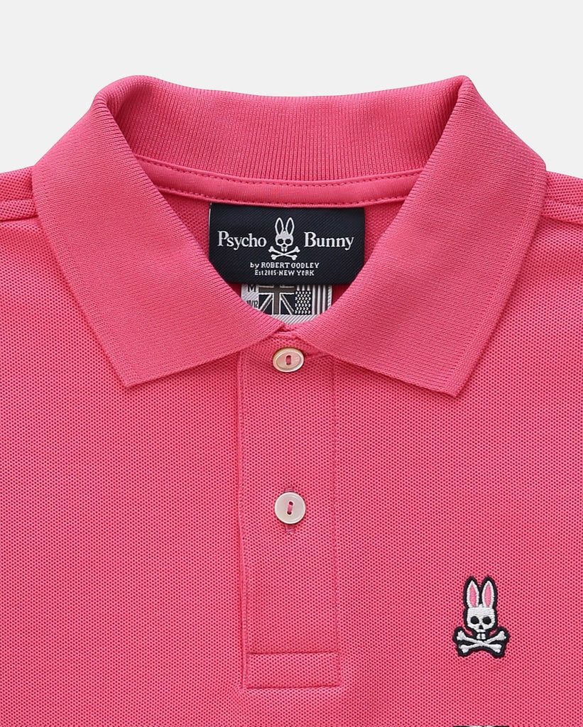 Psycho Bunny MS - Casual Tops - Polos Boys Classic Polo Pink - Gotstyle The Menswear Store