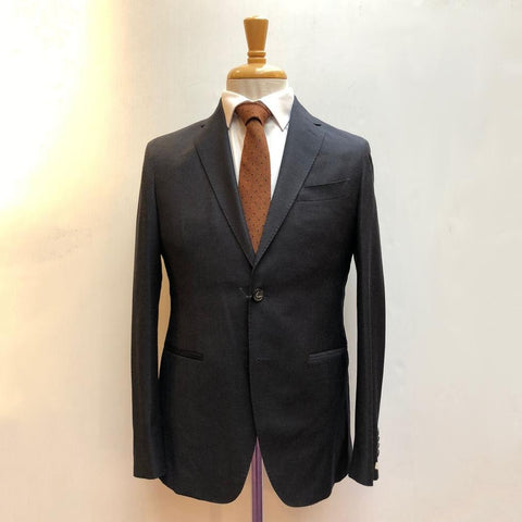 0909 MT - Suits Textured Solid Wool Suit Navy - Gotstyle The Menswear Store