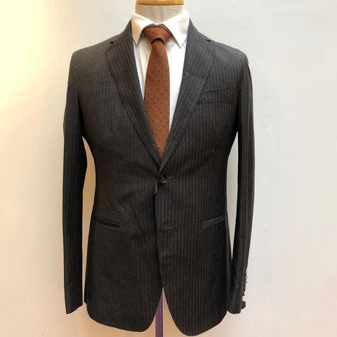 0909 MT - Suits Pinstripe Soft Touch Wool Suit Charcoal - Gotstyle The Menswear Store