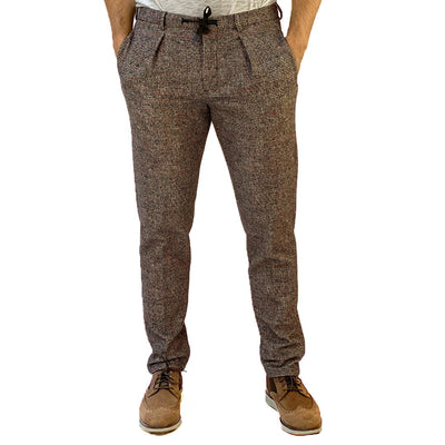 Circolo 1901 Pants Soft Jersey Patterned Drawstring Stretch Pant - Gotstyle The Menswear Store