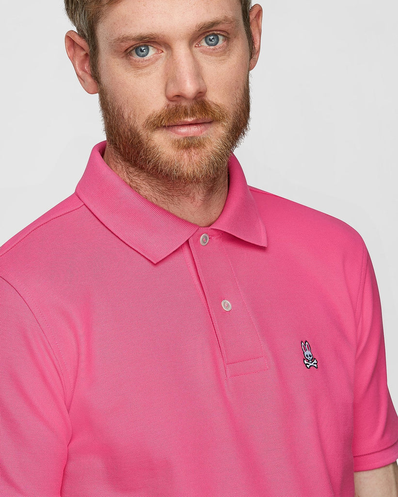 Psycho Bunny MS - Casual Tops - Polos Men's Classic Polo Pink - Gotstyle The Menswear Store