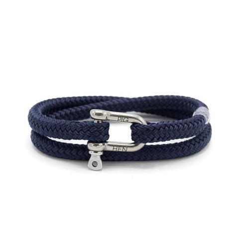 Pig & Hen MA - Jewellery - General Salty Steve Wrap Rope Bracelet w Shackle - Gotstyle The Menswear Store