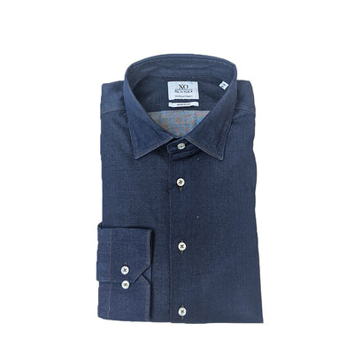 Sand Copenhagen Collar Shirts Fine Stretch Denim Contrast Stitching Shirt - Gotstyle The Menswear Store