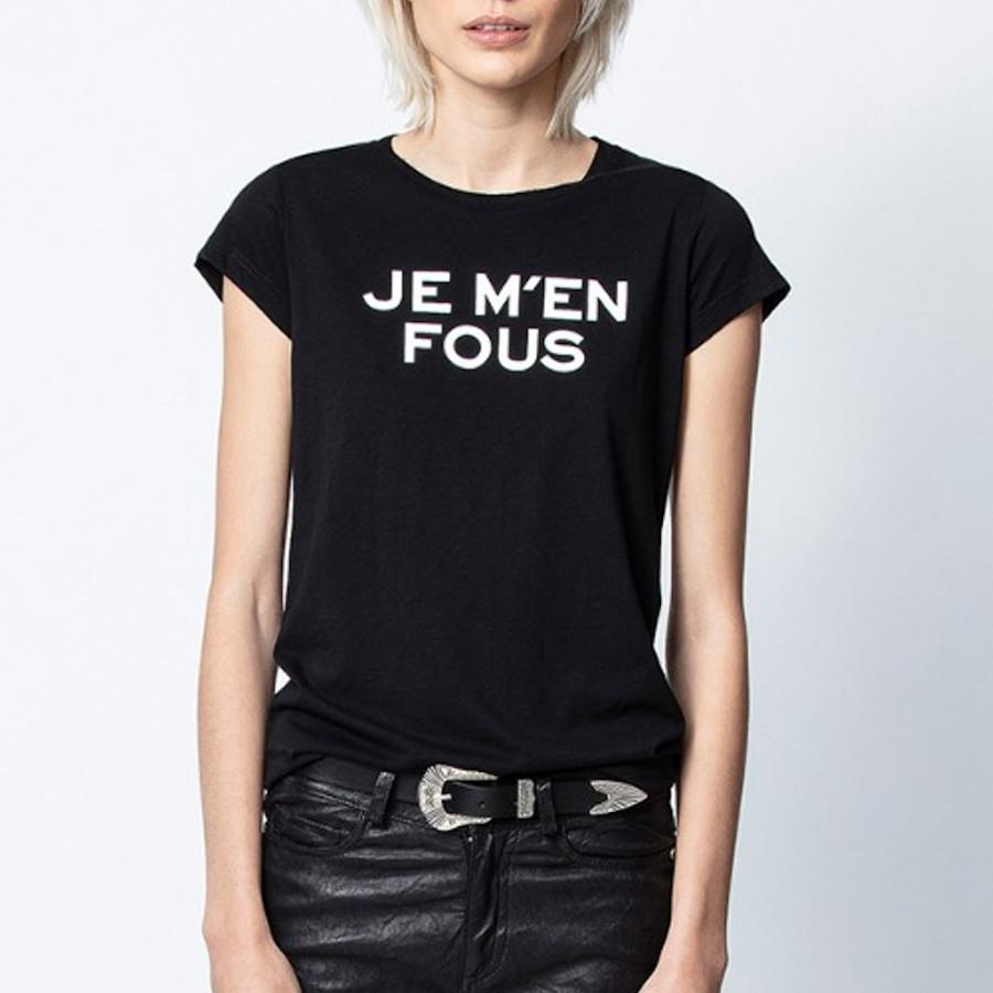 "Zadig & Voltaire Tops ""Je M'en Fous"" Skinny Tee - Gotstyle The Menswear Store"