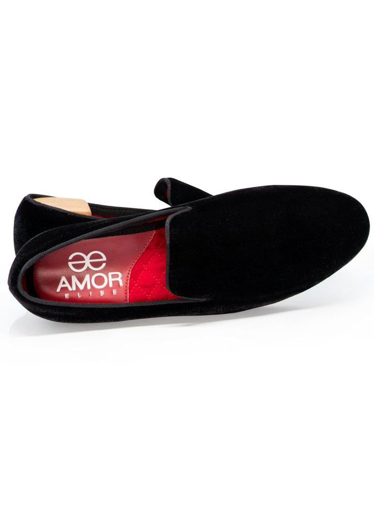 Amor Elise MF - Dress Shoes Fernando Formal Velvet Slip-Ons - Gotstyle The Menswear Store