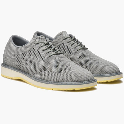 Swims Shoes Barry Derby Knit Sneaker Light Grey - Gotstyle The Menswear Store