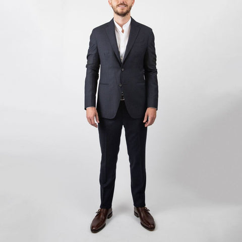 0909 MT - Suits Textured Solid Wool Suit - Gotstyle The Menswear Store