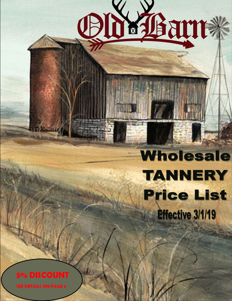 Wholesale Tannery Price List 2019 - Cover Page