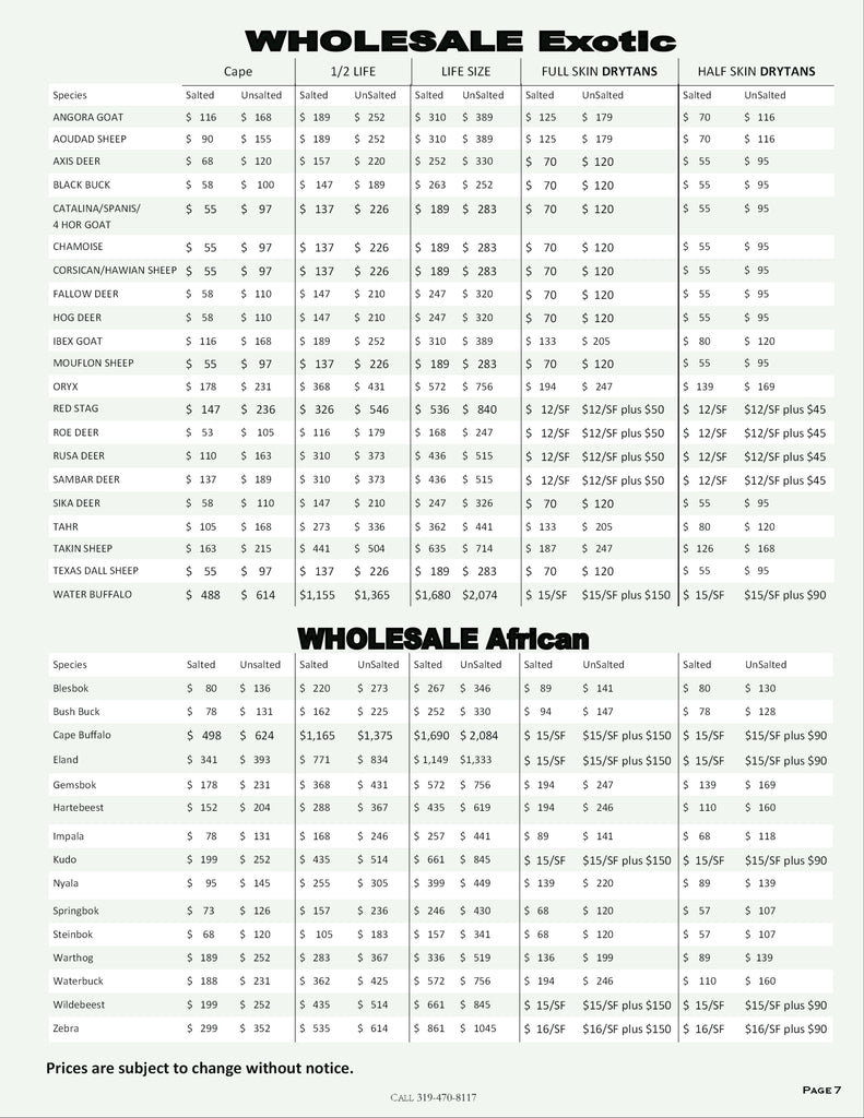 Old Barn Tannery 2020 Price List - Page 5