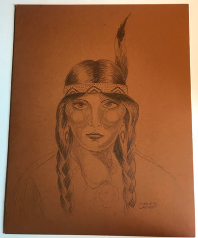 Indian Girl, with Braids (1) 1986 GTC Original
