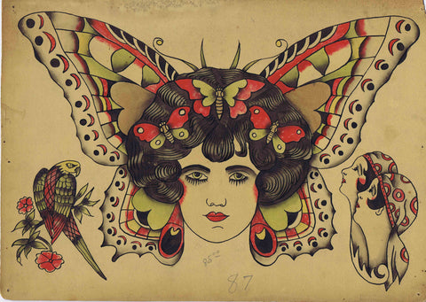 """Butterfly Girl"" Vintage Flash"