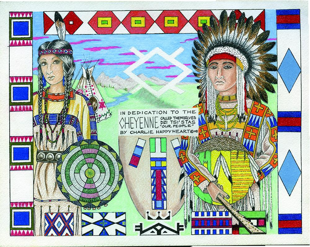 Cheyenne Indian Print