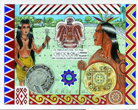 Chickasaw Indian Print