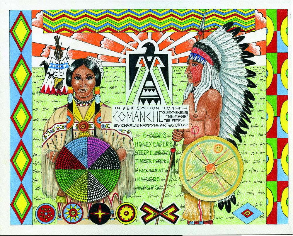 Comanche Indian Print