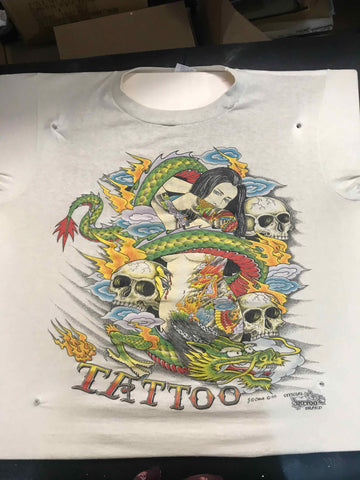 Vintage Tattoo Shirts from End of the Trail - Dragon Girl JD Crowe 1988