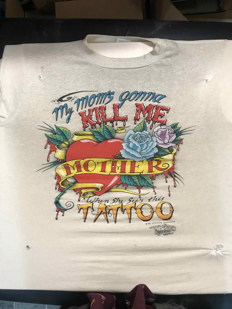 Vintage Tattoo Shirts from End of the Trail - Mom's Gonna Kill Me JD Crowe 1988