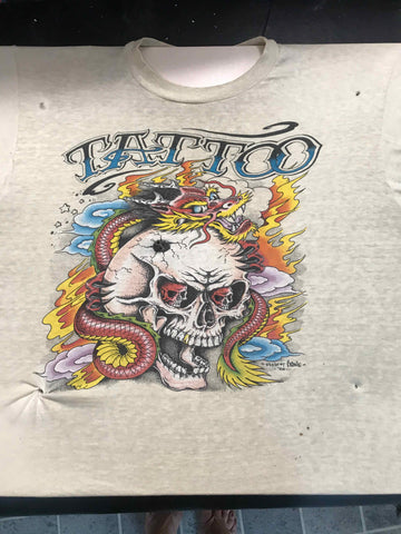 Vintage Tattoo Shirts from End of the Trail - You Bet it Hurts JD Crowe Gill Montie 1988