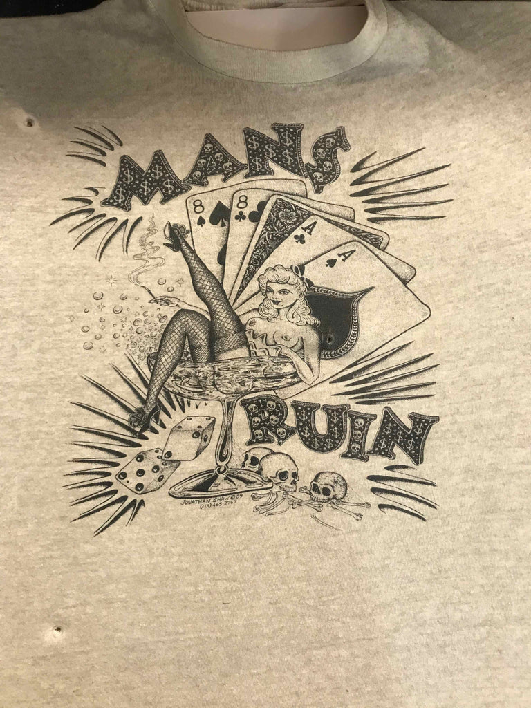 Vintage Tattoo Shirts from End of the Trail - Man's Run Jonathan Shaw 1998