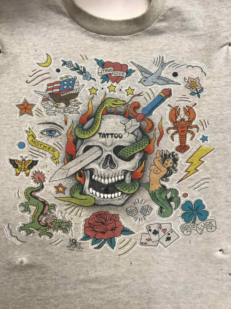Vintage Tattoo Shirts from End of the Trail - Tattoo Skull QFX