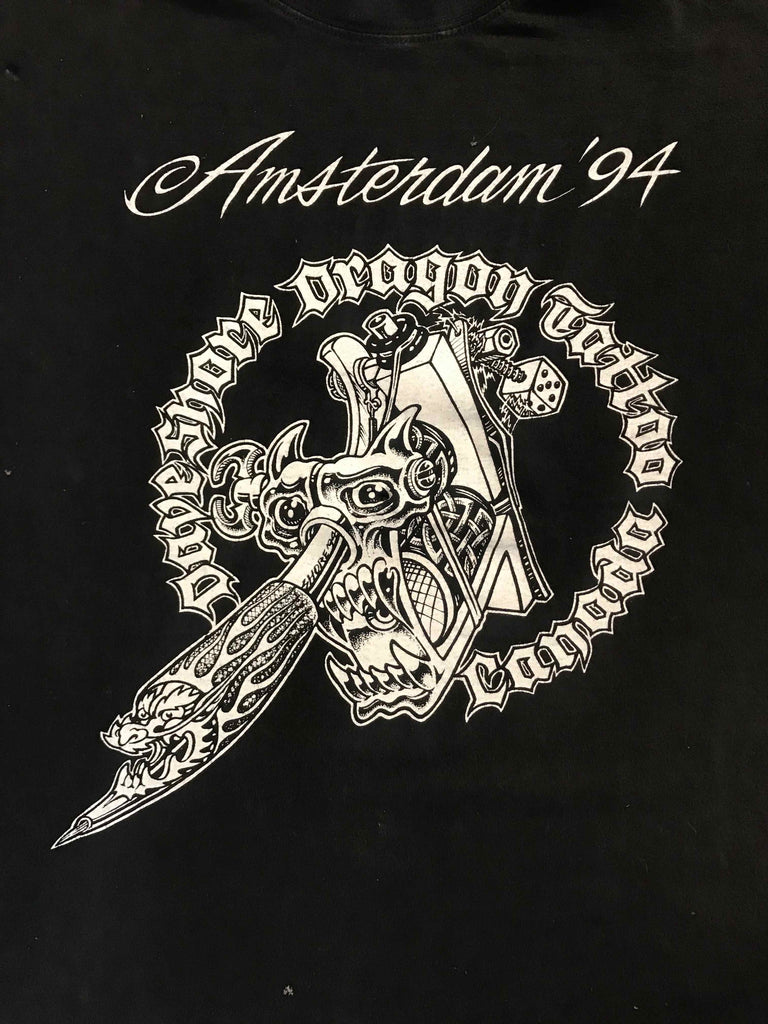 Vintage Tattoo Shirts from End of the Trail - Amsterdam Convention Dave Shore Dragon Tattoo 1994
