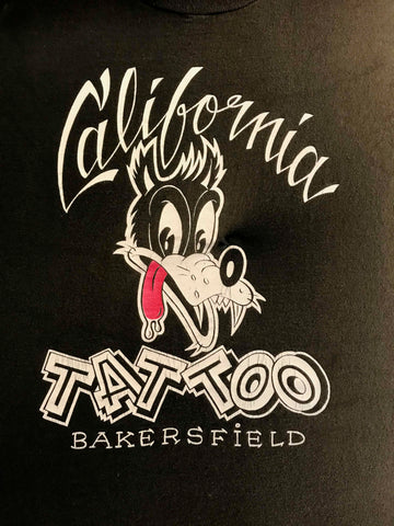 Vintage Tattoo Shirts from End of the Trail - California Tattoo Bakersfield Black Shirt