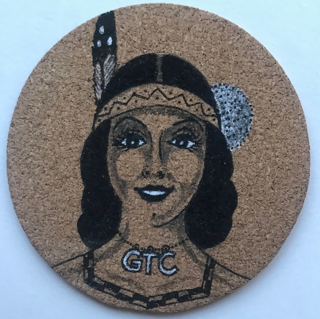 Drawing on Cork One Feather, #2 One of a Kind