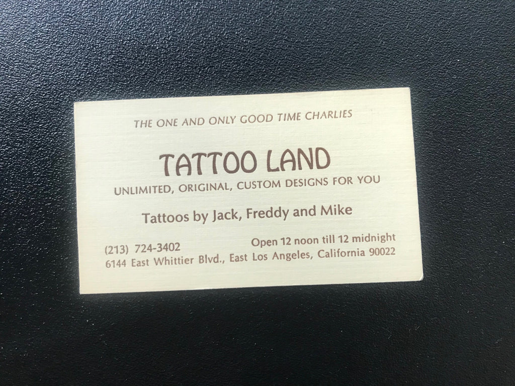 Tattoo Land Business Card