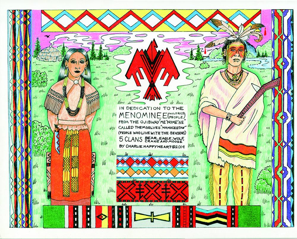 Menominee Indian Print