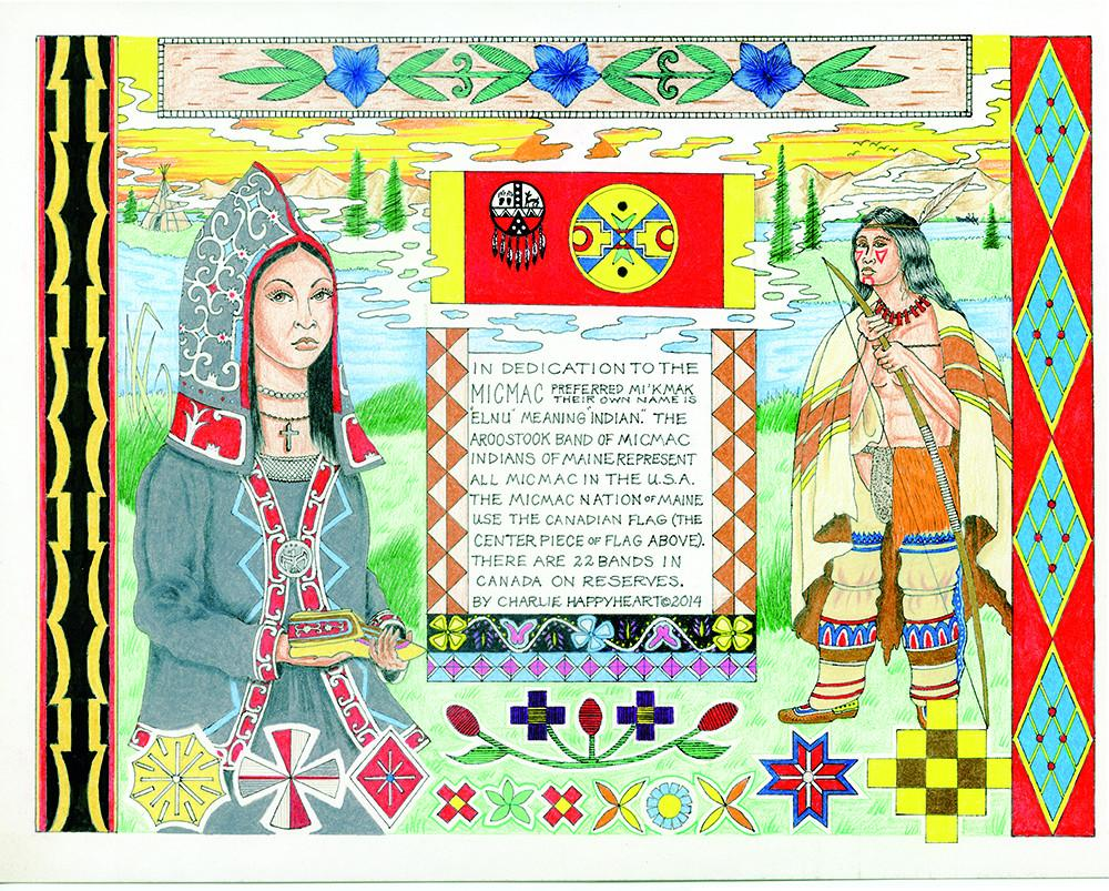 Micmac Indian Print