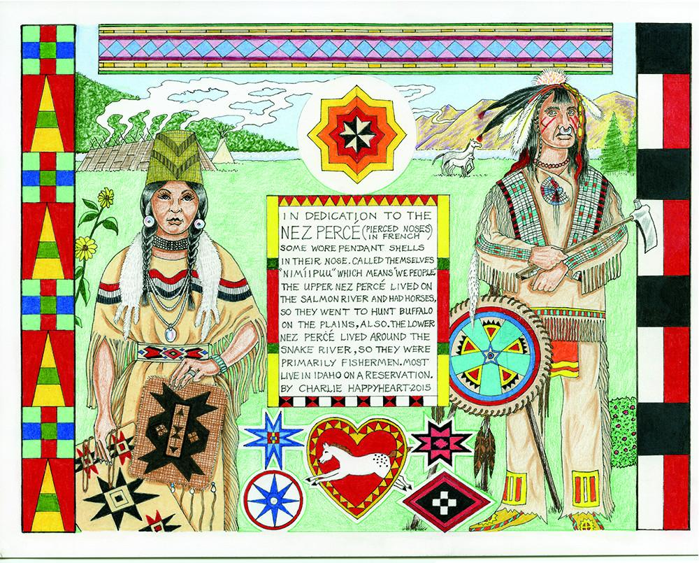 New Perce Indian Print