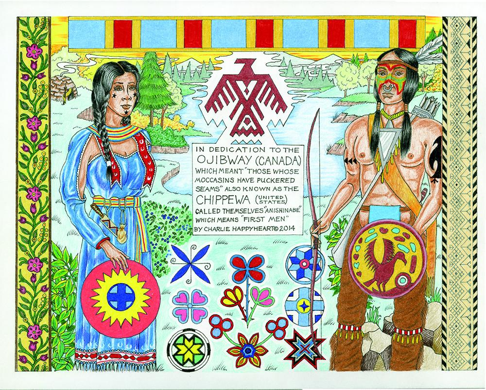 Ojibway-Chippewa Indian Print
