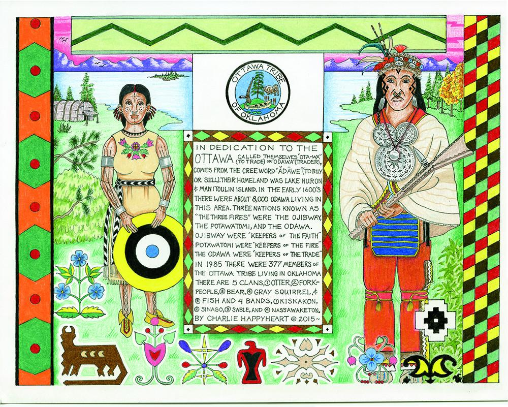 Ottawa Indian Print